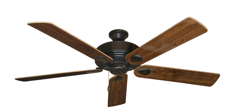"Picture of Futura Oil Rubbed Bronze with 60"" Walnut Gloss Blades"