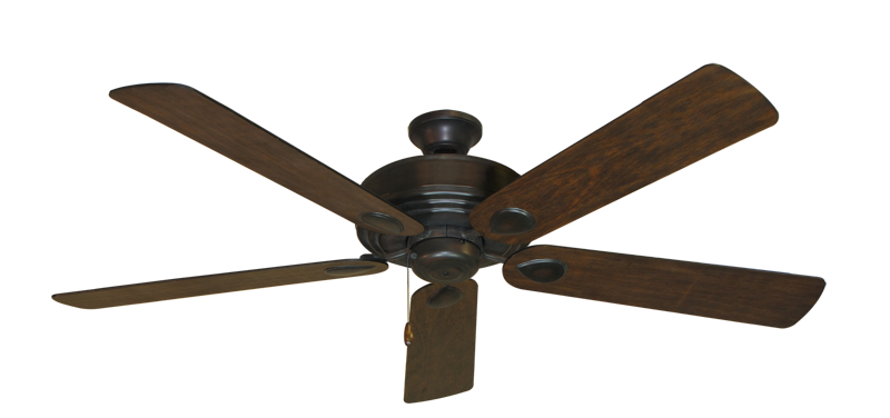 """Picture of Futura Oil Rubbed Bronze with 60"""" Distressed Walnut Blades"""