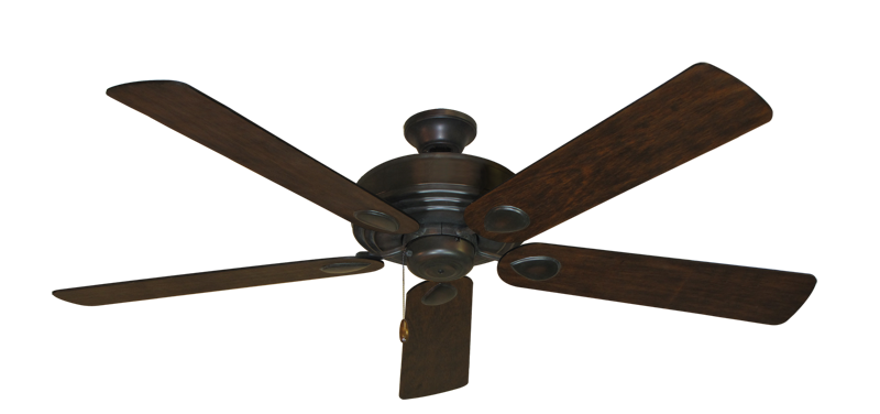 """Futura Oil Rubbed Bronze with 60"""" Distressed Hickory Blades"""