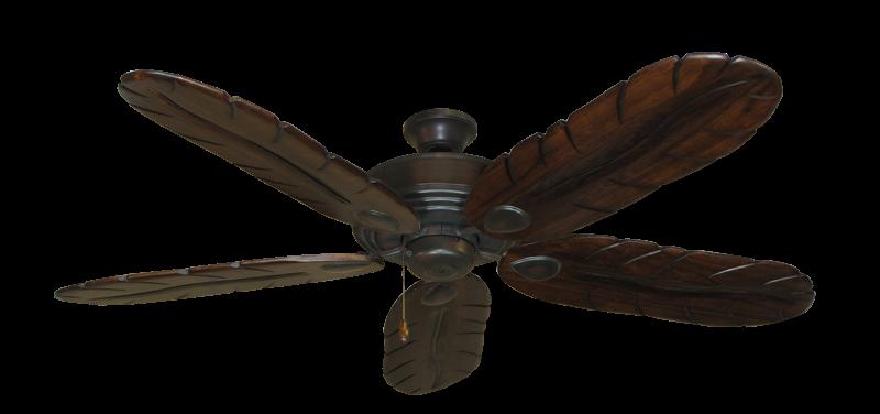"Futura Oil Rubbed Bronze with 58"" Series 500 Arbor Dark Walnut Blades"