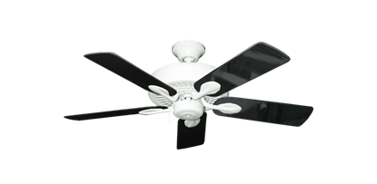 """Picture of Meridian Pure White with 44"""" Black Gloss Blades"""