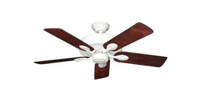 """Picture of Meridian Pure White with 44"""" Cherrywood Gloss Blades"""