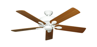 """Picture of Meridian Pure White with 52"""" Teak Blades"""