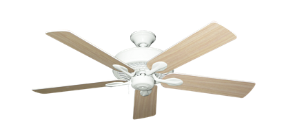 """Picture of Meridian Pure White with 52"""" Bleached Oak Gloss Blades"""