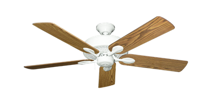 """Picture of Meridian Pure White with 52"""" Oak Gloss Blades"""