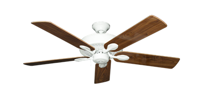"""Picture of Meridian Pure White with 52"""" Walnut Gloss Blades"""