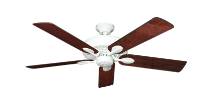 """Picture of Meridian Pure White with 52"""" Cherrywood Gloss Blades"""