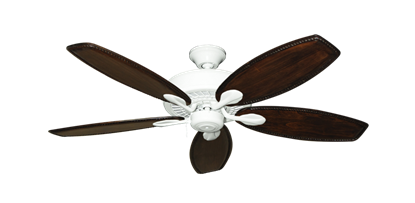 """Picture of Meridian Pure White with 52"""" Series 550 Arbor Whitewash Blades"""
