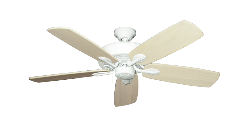 "Picture of Meridian Pure White with 52"" Series 710 Arbor Whitewash Blades"