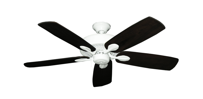 """Picture of Meridian Pure White with 52"""" Series 710 Arbor Dark Walnut Blades"""