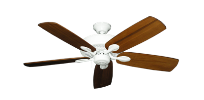 """Picture of Meridian Pure White with 52"""" Series 710 Arbor Oak Blades"""