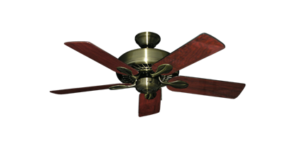 "Picture of Meridian Antique Brass with 44"" Cherrywood Gloss Blades"