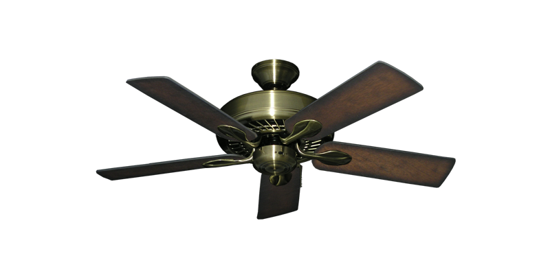 "Picture of Meridian Antique Brass with 44"" Distressed Hickory Blades"