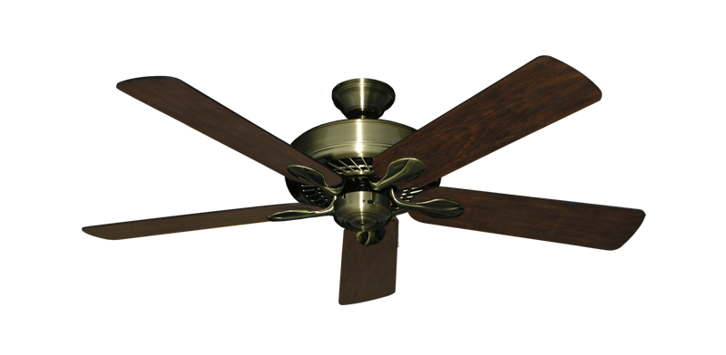 "Picture of Meridian Antique Brass with 52"" Distressed Hickory Blades"