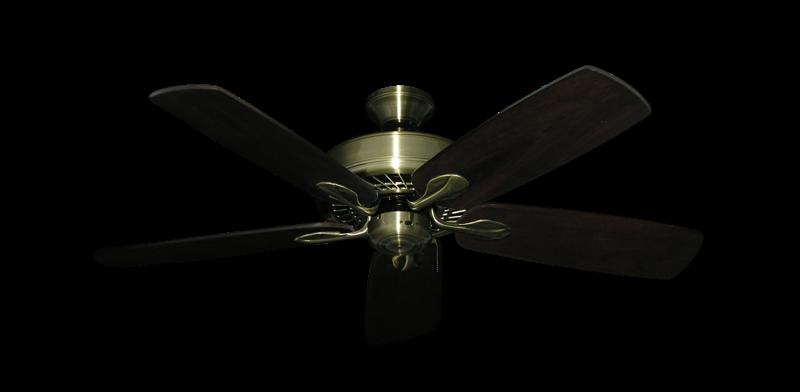 "Picture of Meridian Antique Brass with 52"" Series 710 Arbor Dark Walnut Blades"