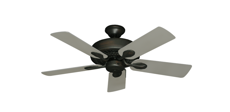 "Picture of Meridian Oil Rubbed Bronze with 44"" Satin Steel (painted) Blades"