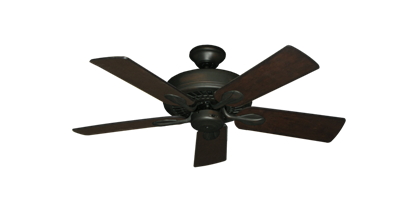 "Picture of Meridian Oil Rubbed Bronze with 44"" Distressed Walnut Blades"