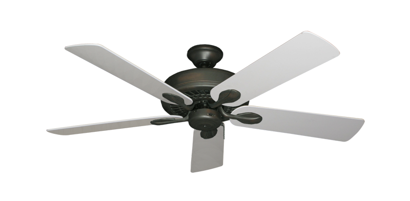 "Picture of Meridian Oil Rubbed Bronze with 52"" Pure White Blades"