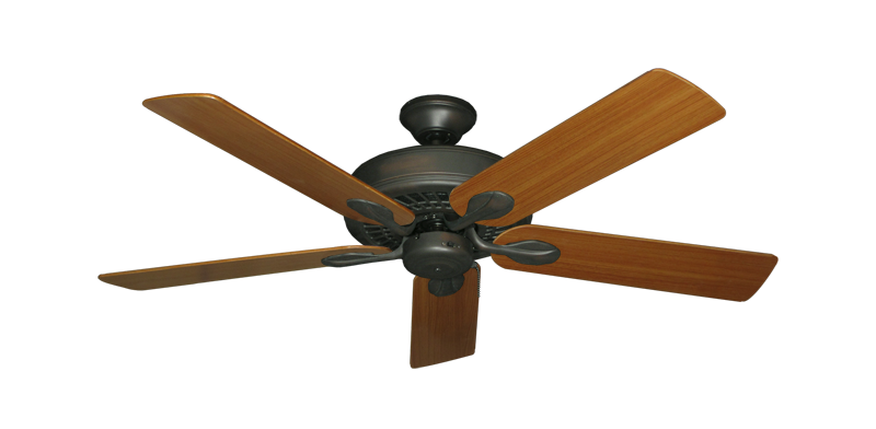 "Picture of Meridian Oil Rubbed Bronze with 52"" Teak Blades"