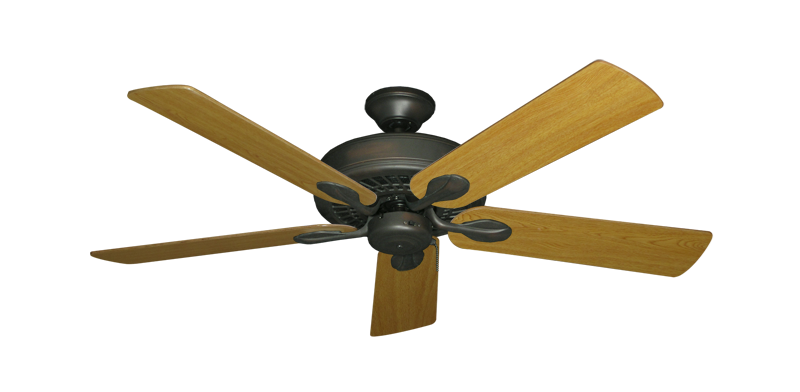 "Picture of Meridian Oil Rubbed Bronze with 52"" Honey Oak Blades"