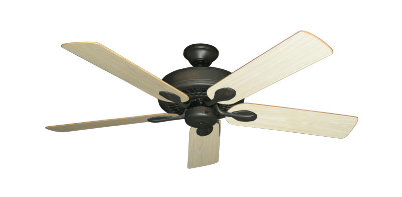 """Picture of Meridian Oil Rubbed Bronze with 52"""" Unfinished Oak Blades"""