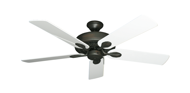 "Picture of Meridian Oil Rubbed Bronze with 52"" Pure White Gloss Blades"
