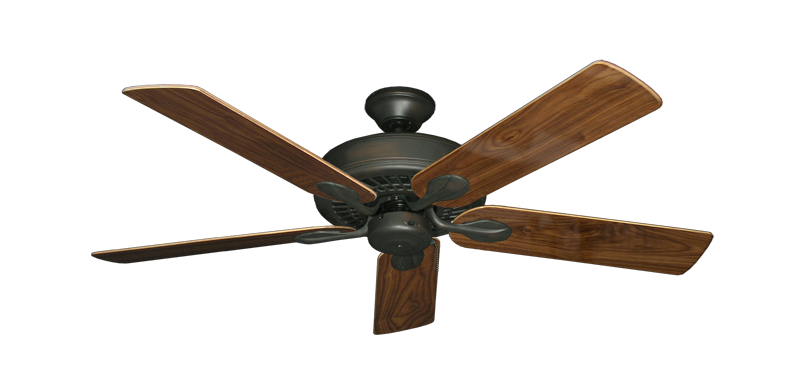 "Picture of Meridian Oil Rubbed Bronze with 52"" Walnut Gloss Blades"