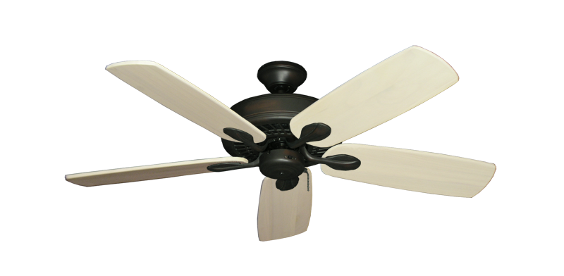 "Picture of Meridian Oil Rubbed Bronze with 52"" Series 710 Arbor Whitewash Blades"
