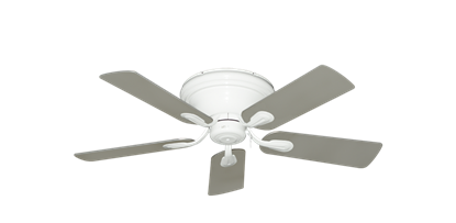 """Picture of Stratus Pure White with 44"""" Satin Steel (painted) Blades"""