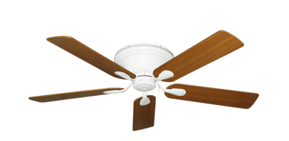 "Picture of Stratus Pure White with 52"" Teak Blades"