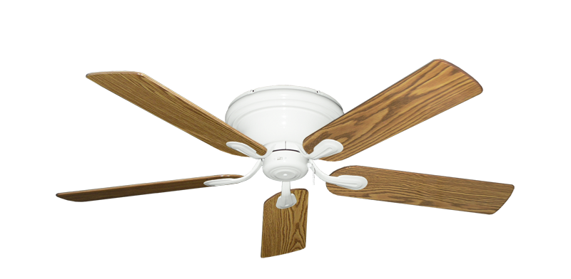"""Picture of Stratus Pure White with 52"""" Oak Gloss Blades"""