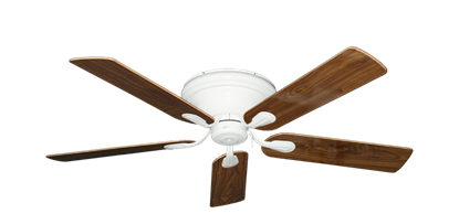 """Picture of Stratus Pure White with 52"""" Walnut Gloss Blades"""