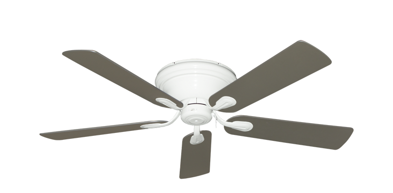 """Picture of Stratus Pure White with 52"""" Satin Steel (painted) Blades"""