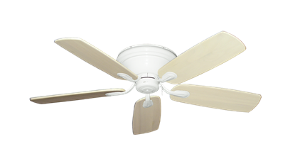 "Picture of Stratus Pure White with 52"" Series 710 Arbor Whitewash Blades"