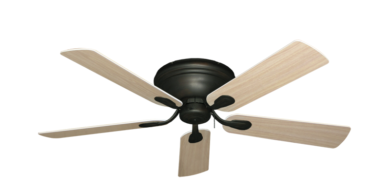 """Picture of Stratus Oil Rubbed Bronze with 52"""" Bleached Oak Blades"""