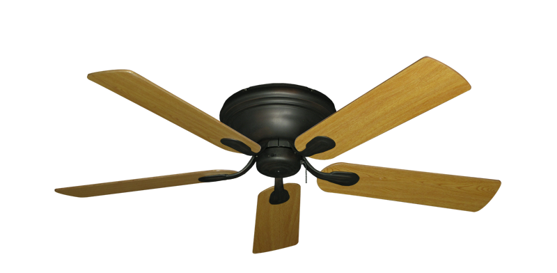"""Picture of Stratus Oil Rubbed Bronze with 52"""" Honey Oak Blades"""
