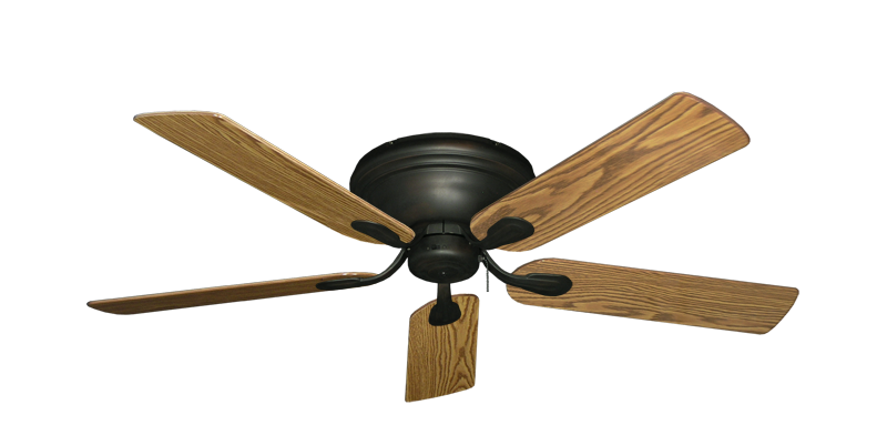 "Picture of Stratus Oil Rubbed Bronze with 52"" Oak Gloss Blades"