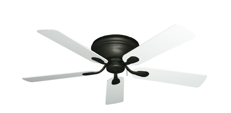 """Picture of Stratus Oil Rubbed Bronze with 52"""" Textured White Blades"""