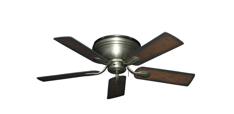 """Picture of Stratus Satin Steel with 44"""" Distressed Hickory Blades"""