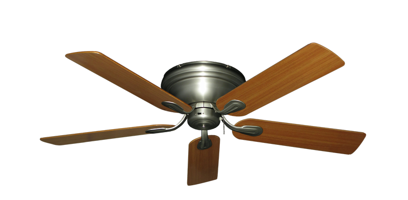 """Picture of Stratus Satin Steel with 52"""" Teak Blades"""