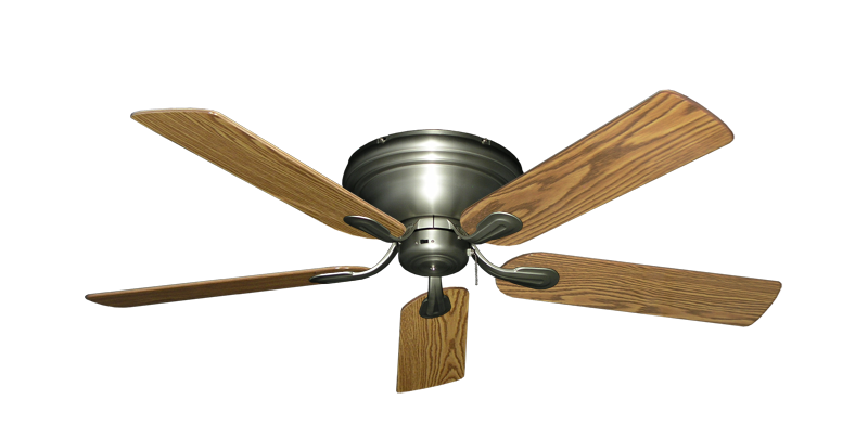 """Picture of Stratus Satin Steel with 52"""" Oak Gloss Blades"""