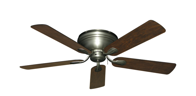 """Picture of Stratus Satin Steel with 52"""" Distressed Walnut Blades"""