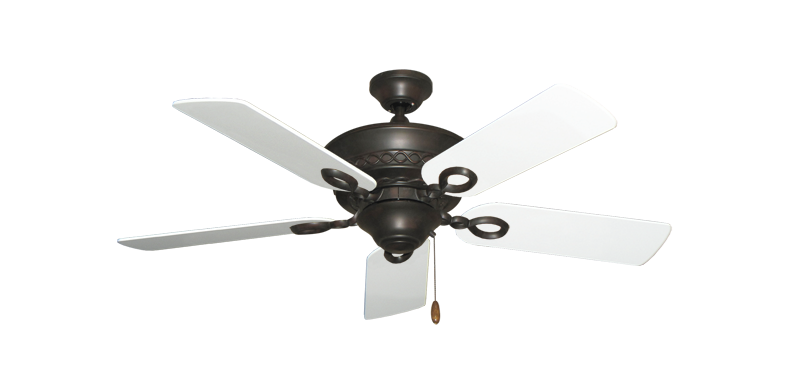 """Picture of Infinity Oil Rubbed Bronze with 44"""" Pure White Blades"""