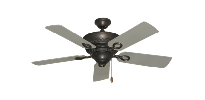 """Picture of Infinity Oil Rubbed Bronze with 44"""" Satin Steel (painted) Blades"""