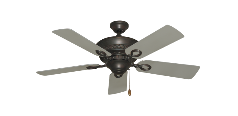 "Picture of Infinity Oil Rubbed Bronze with 44"" Satin Steel (painted) Blades"