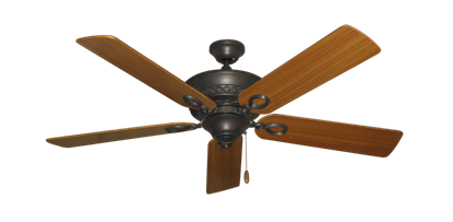 """Picture of Infinity Oil Rubbed Bronze with 52"""" Teak Blades"""
