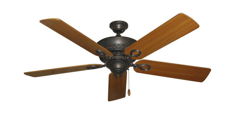 "Picture of Infinity Oil Rubbed Bronze with 52"" Teak Blades"