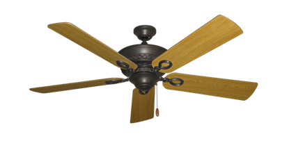 """Picture of Infinity Oil Rubbed Bronze with 52"""" Honey Oak Blades"""