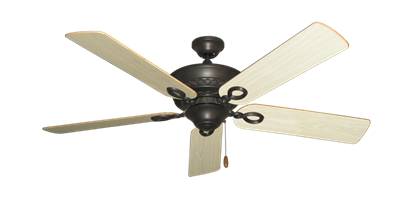"""Picture of Infinity Oil Rubbed Bronze with 52"""" Bleached Oak Gloss Blades"""