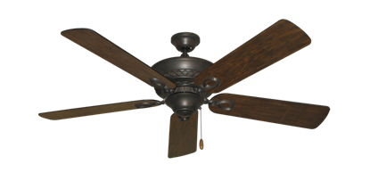 """Picture of Infinity Oil Rubbed Bronze with 52"""" Distressed Walnut Blades"""